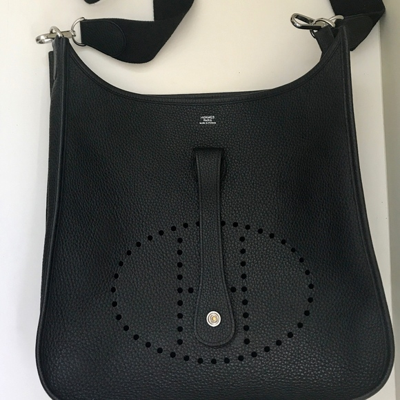 b011f7ff8 Hermes Bags | Evelyne Iii Gm 33 Black Clemence Leather | Poshmark